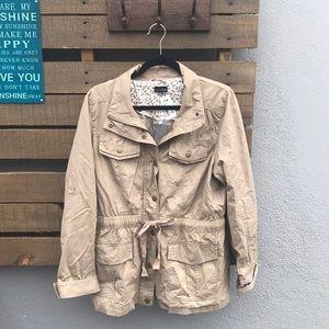 Beige utility jacket